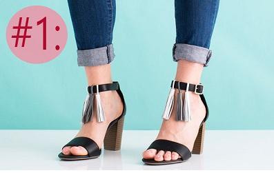 F5 cho đôi sandal cũ trở nên đẹp lung linh cực dễ dàng cho các nàng vụng về