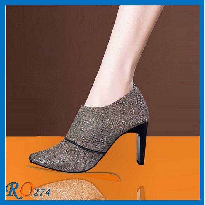 Giày Boot Cổ Thấp RO274 Màu Nâu