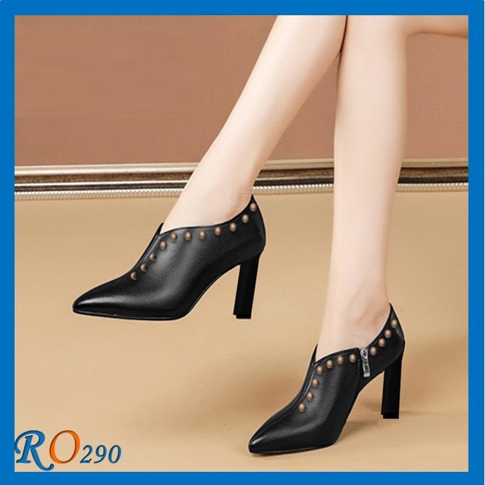 Giày Boot cổ thấp RO290 Màu Đen
