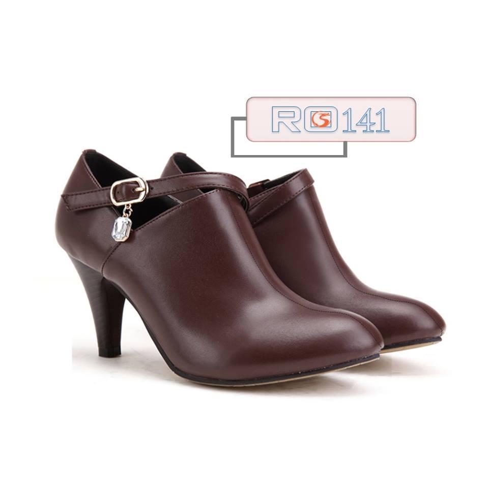 Giày boot nữ RO141 màu nâu