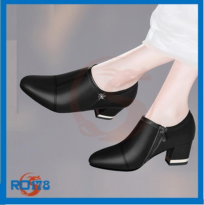 Giày boot nữ RO178 màu đen