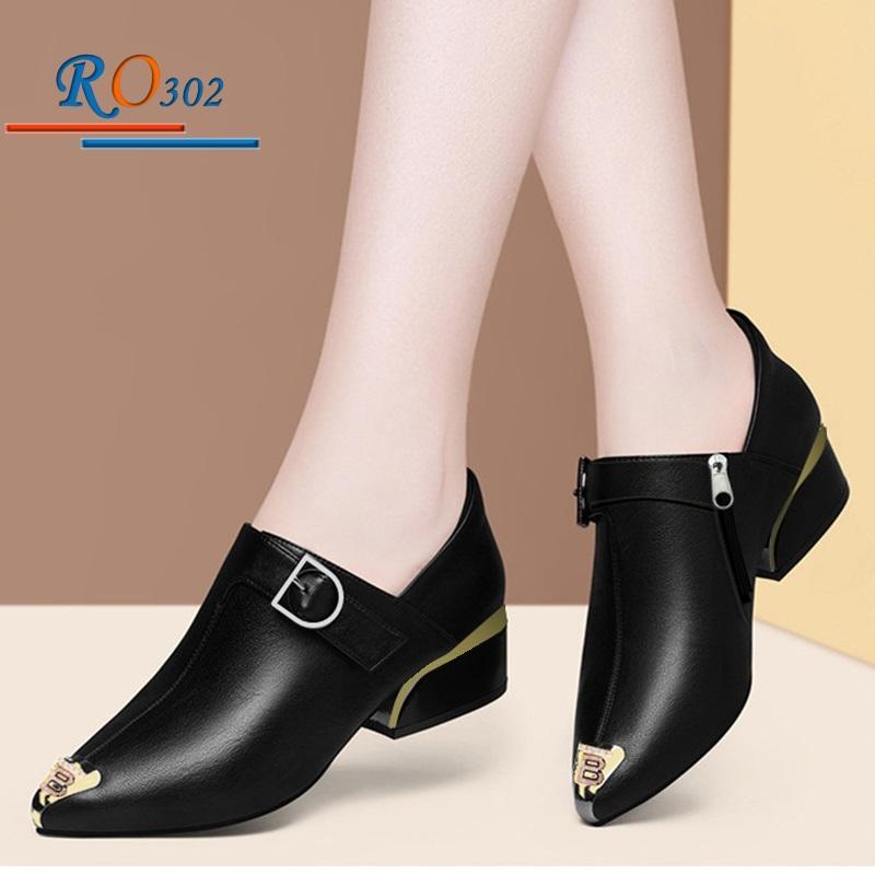 Giày Boot nữ RO302 Màu Đen