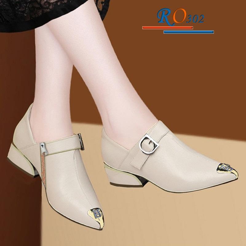 Giày Boot nữ RO302 Màu Kem