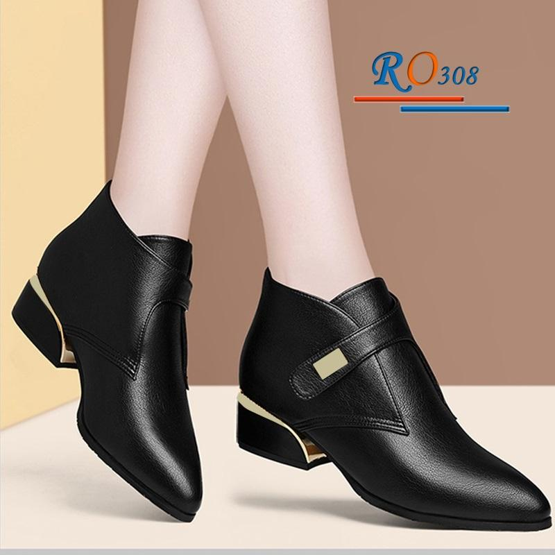 Giày Boot nữ RO308 Màu Đen