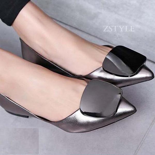 Giày búp bê nữ BBN03 màu bạc
