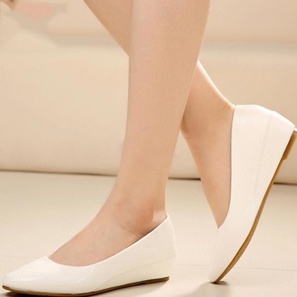 Giày búp bê nữ BBN04 màu trắng
