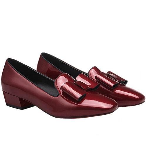 Giày búp bê nữ BBN09 màu đỏ đô