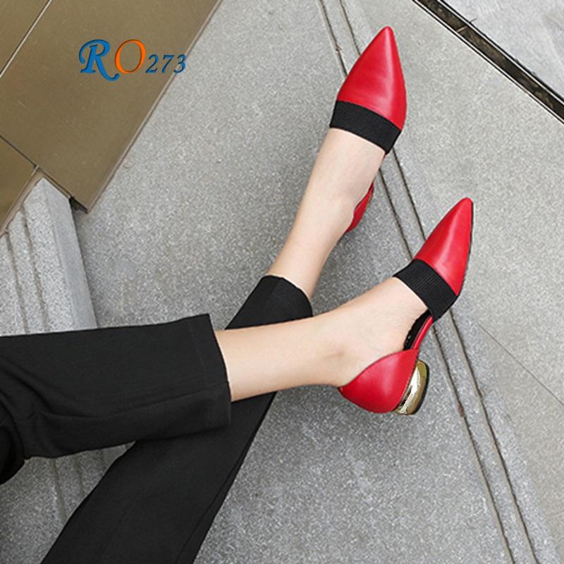 Giày Búp bê Nữ Bít Mũi RO273