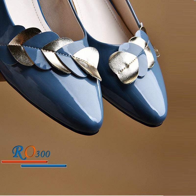 Giày búp bê nữ RO300 Màu Đen
