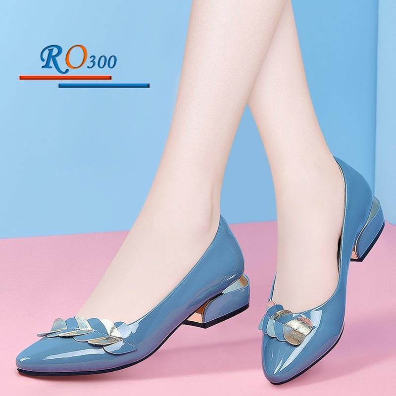 Giày búp bê nữ RO300 Màu Xanh