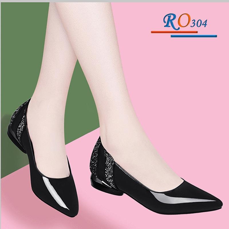 Giày búp bê nữ RO304 Màu Đen