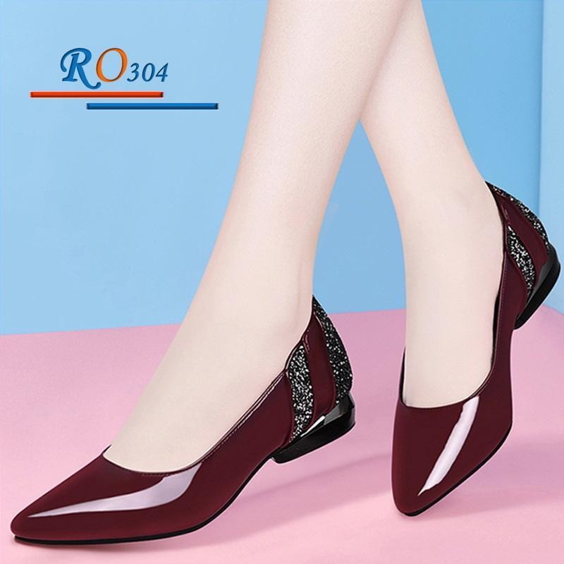 Giày búp bê nữ RO304 Màu Đỏ
