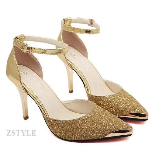 Giày cao gót nữ CGN017 màu vàng
