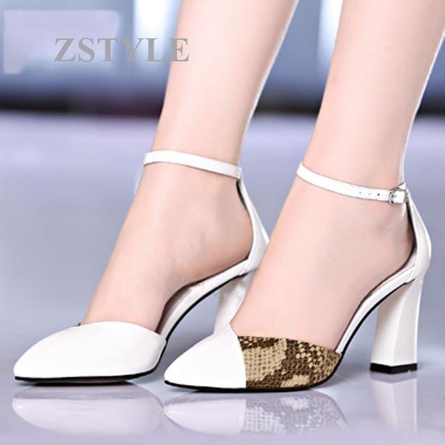 Giày cao gót nữ CGN023 màu trắng