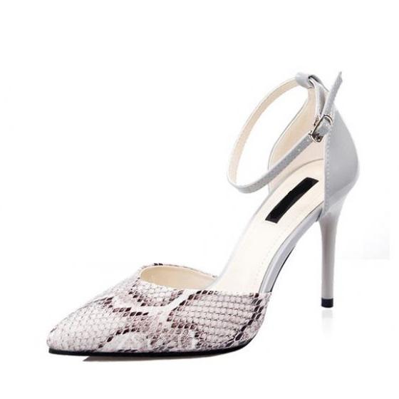 Giày cao gót nữ CGN025 màu trắng