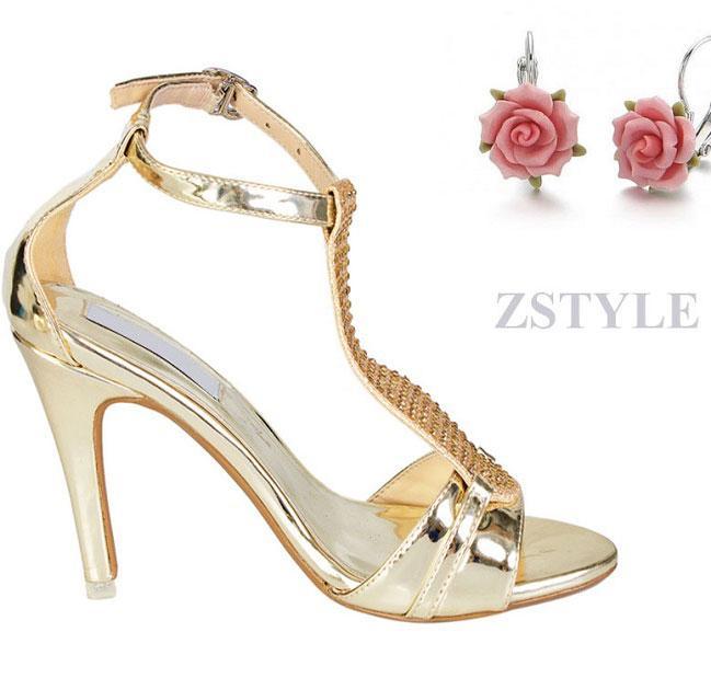 Giày cao gót nữ CGN031 màu vàng