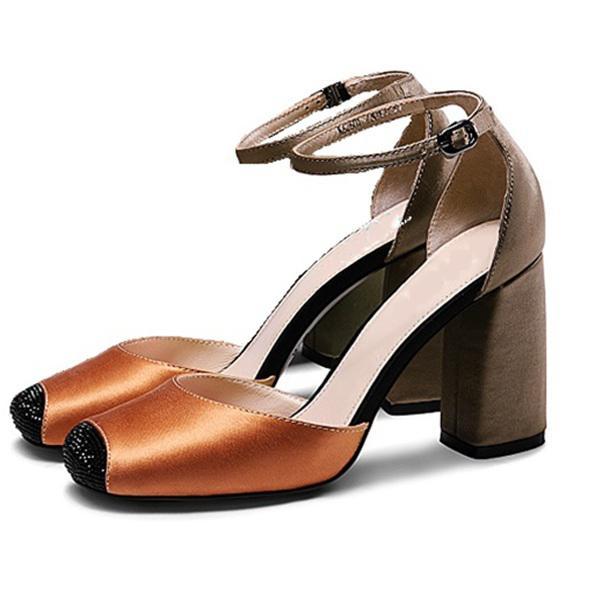 Giày cao gót nữ CGN035 màu nâu