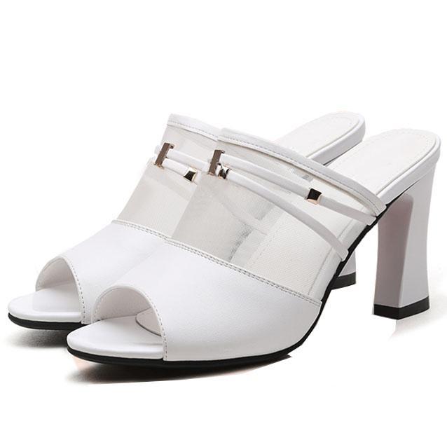 Giày cao gót nữ CGN040 màu trắng