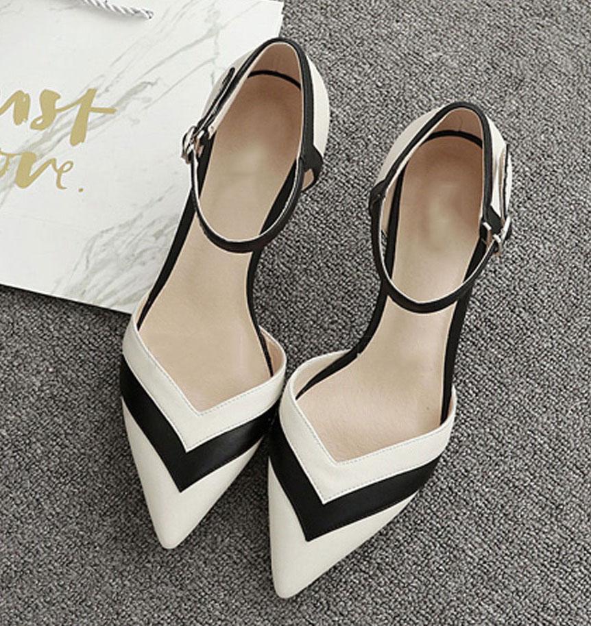Giày cao gót nữ CGN041 màu trắng