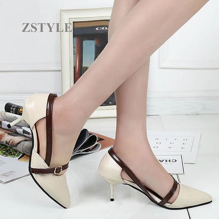 Giày cao gót nữ CGN045 màu kem