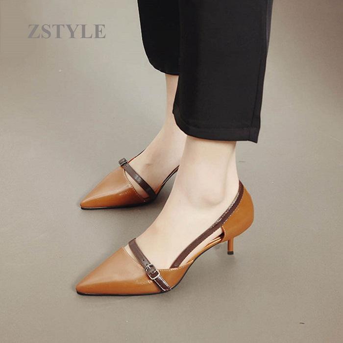 Giày cao gót nữ CGN045 màu nâu