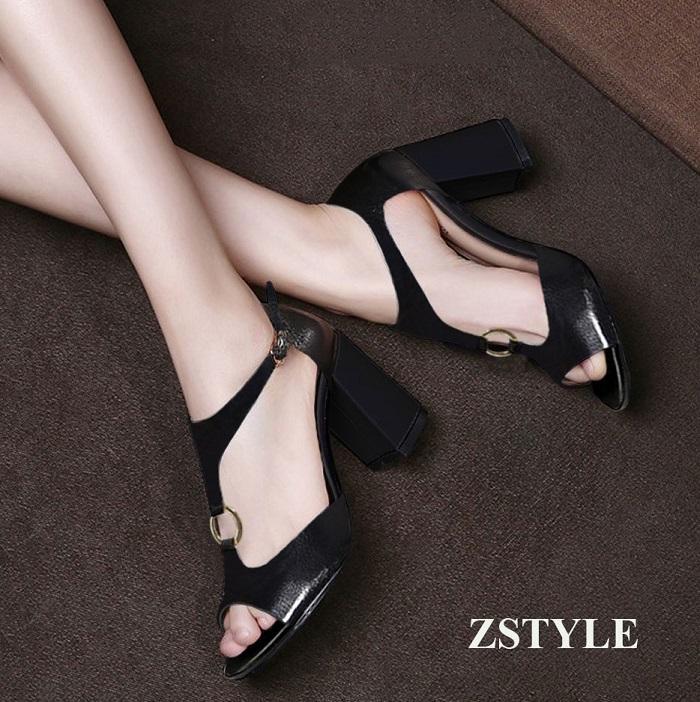Giày cao gót nữ CGN048 màu đen