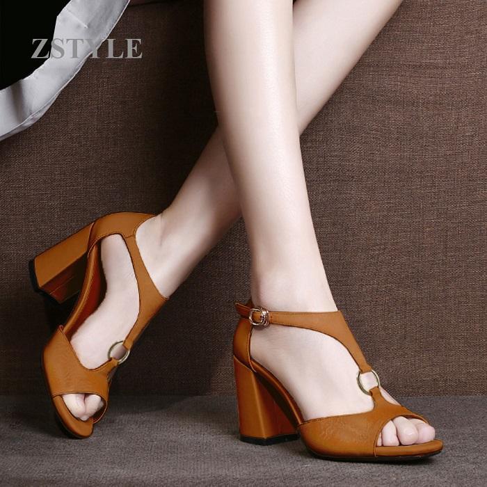Giày cao gót nữ CGN048 màu nâu