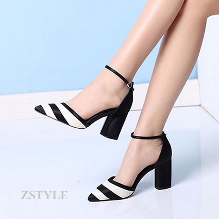 Giày cao gót nữ CGN052 màu trắng