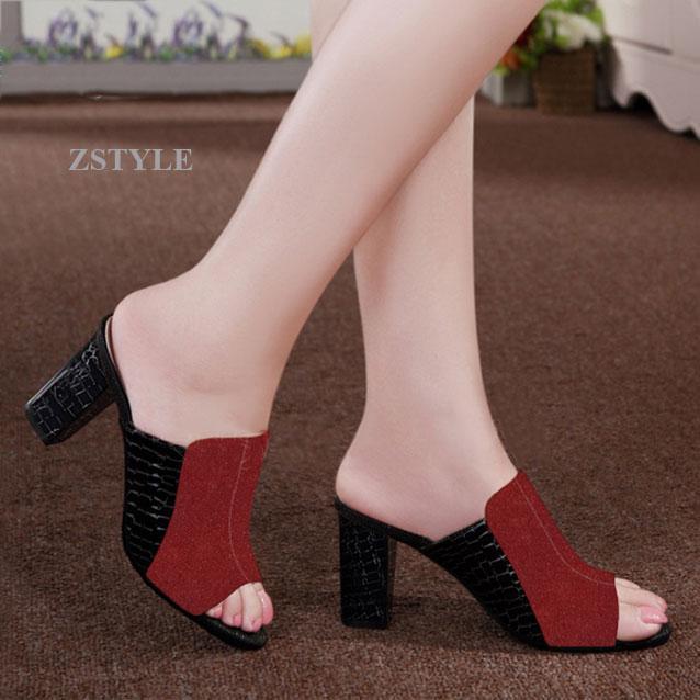Giày cao gót nữ CGN058 màu đỏ
