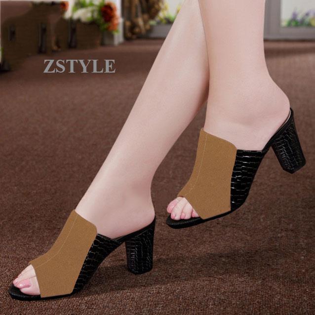 Giày cao gót nữ CGN058 màu nâu