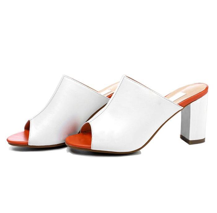 Giày cao gót nữ CGN062 màu trắng