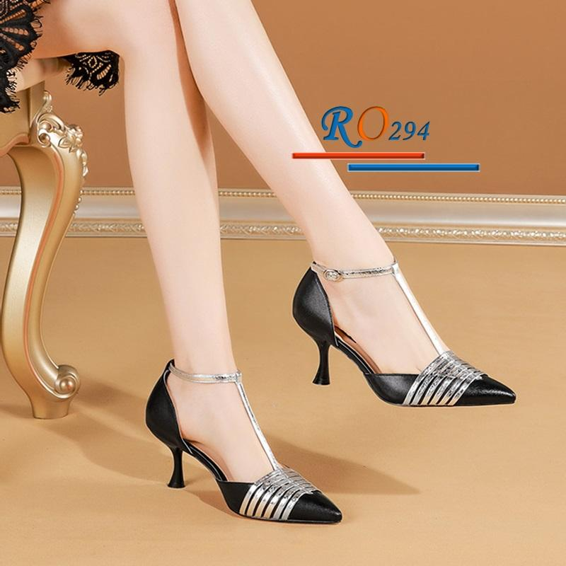 Giày cao gót nữ RO294 màu Đen
