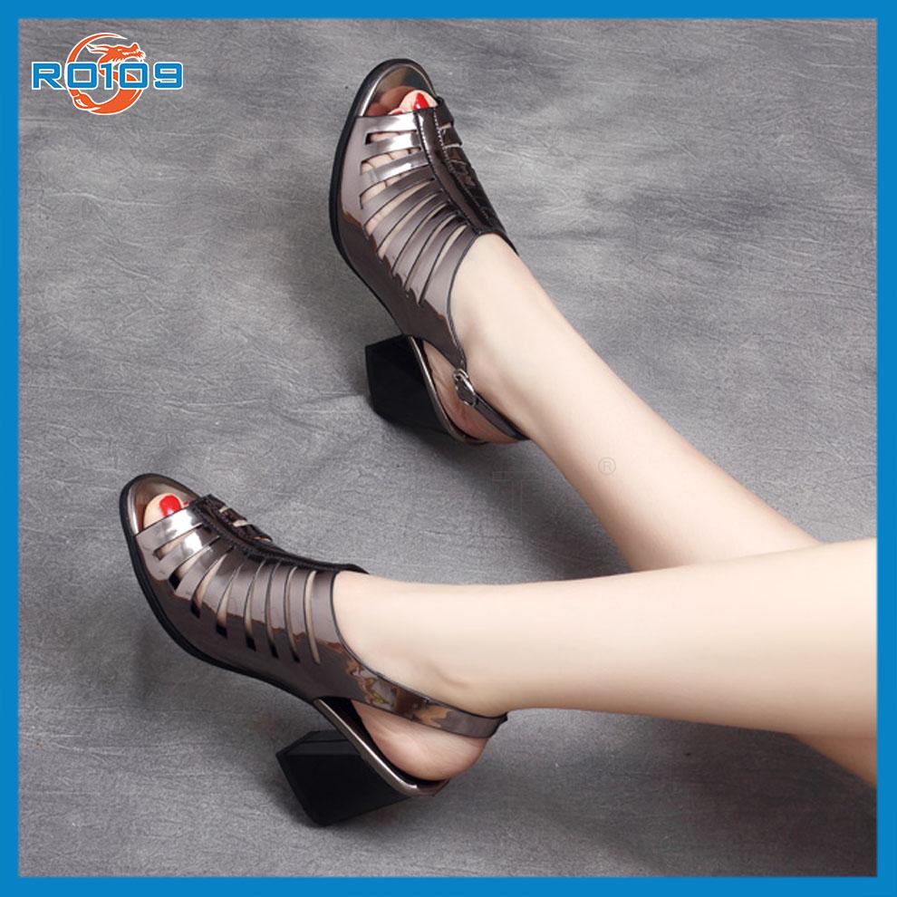 Giày xăng đan nữ Cắt Lazer RO109