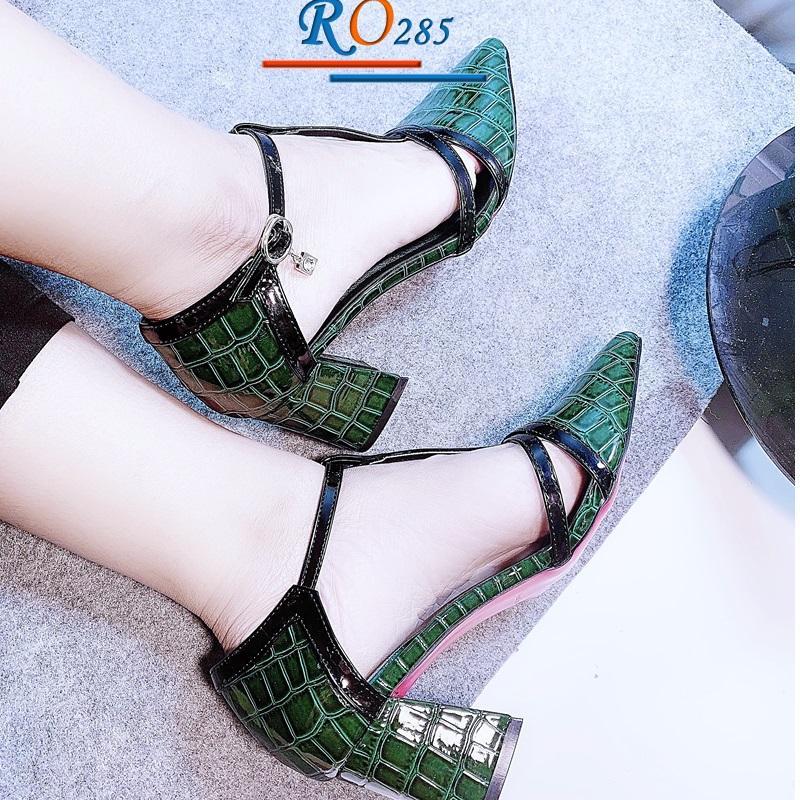 Giày xăng đan nữ RO285 Màu Xanh