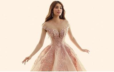 Phạm Hương chỉ luôn trung thành với những loại váy áo ôm sát sexy nhưng thời gian gần đây, cô đã bắt đầu thích làm công chúa rồi