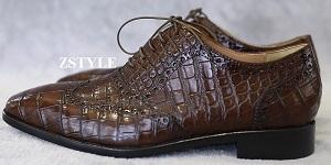 Tổng hợp những kiểu giày làm từ da cá sấu siêu sang