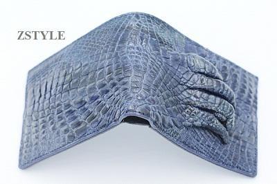 Ví nam da cá sấu móng tay VMTCS01